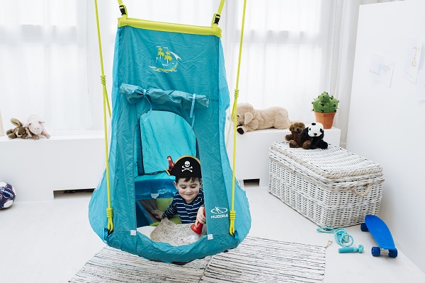 Gniazdo z namiotem Hudora Nest Swing Pirate 90 cm (72152)